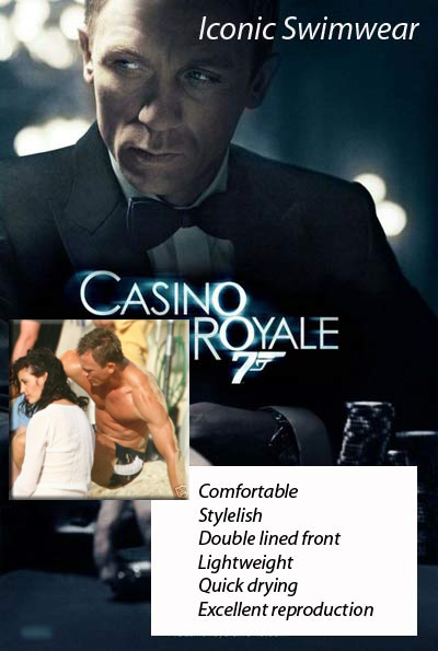 Swim trunks casino royale