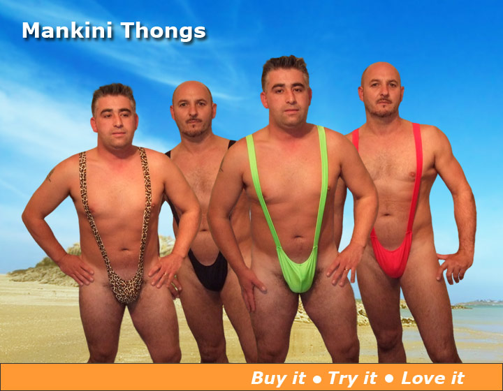 Mankini Swim Thongs