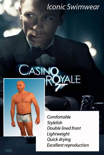 Casino royale swim trunks