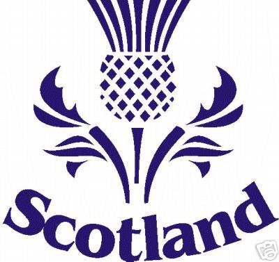The Scottish Thistle emblem is applied to the garment using a high ...
