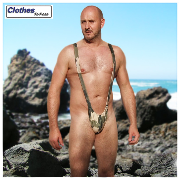 Borat Mankini Camouflage Mankini Thong Borat Fancy Dress