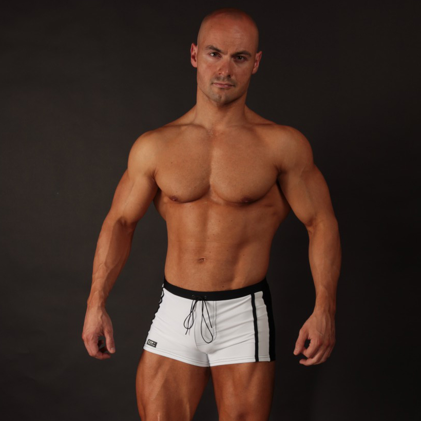 8f9cda2bbd032 Mens Swim Trunks - Black & White