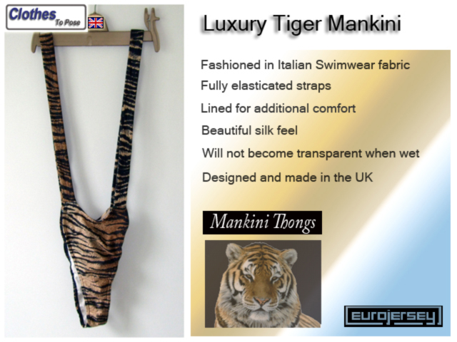 Luxury Tiger Mankini Thong