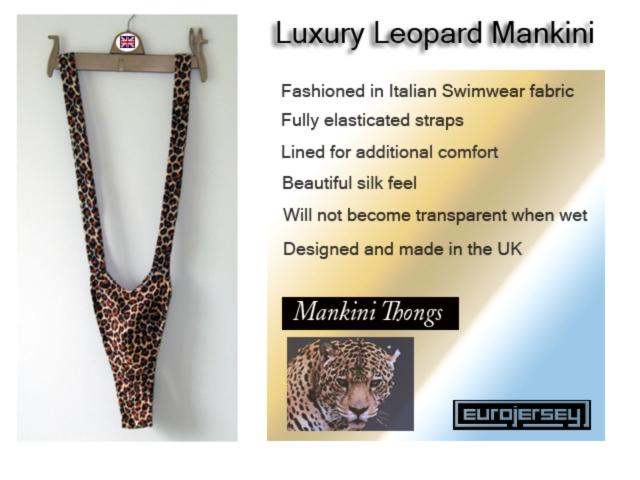 Luxury Leopard Mankini Thong